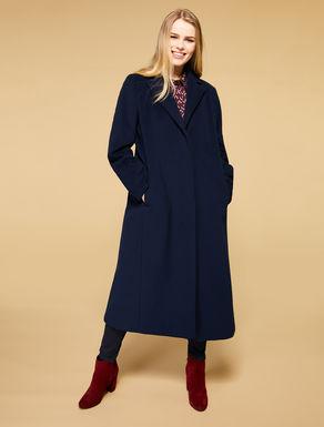 Abrigo largo en paño de lana