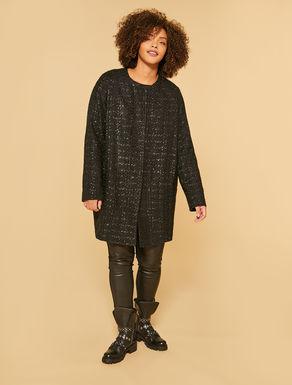 Abrigo de tweed tipo Chanel