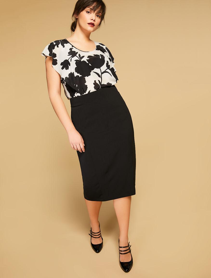 Fluid fabric skirt