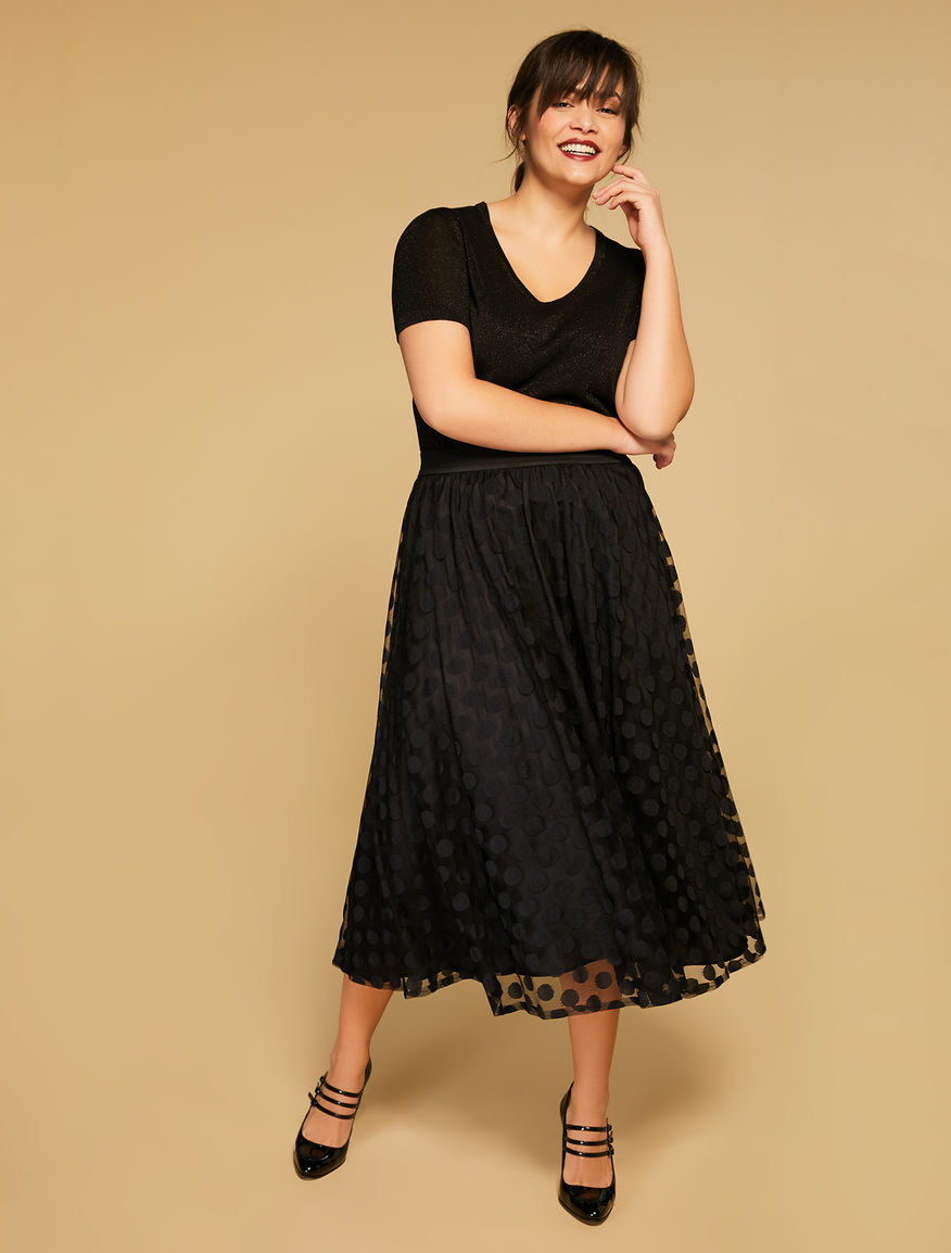 Jacquard tulle skirt