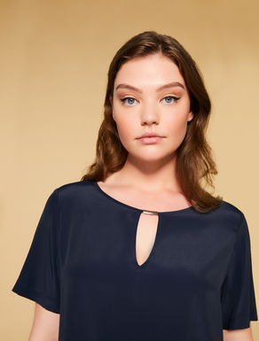 Silk-blend crepe tunic