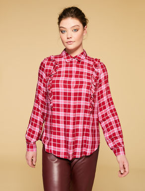 Camicia in viscosa a quadri