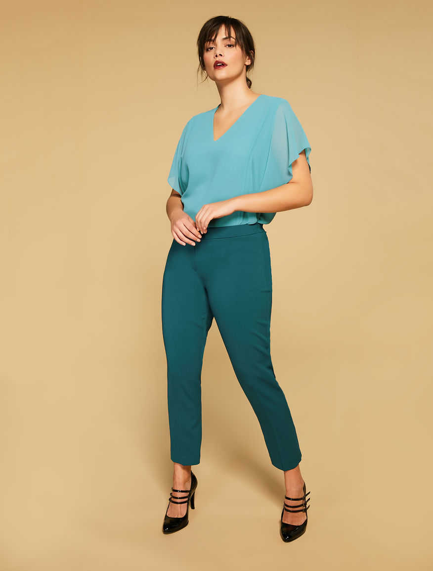 Fluid fabric trousers