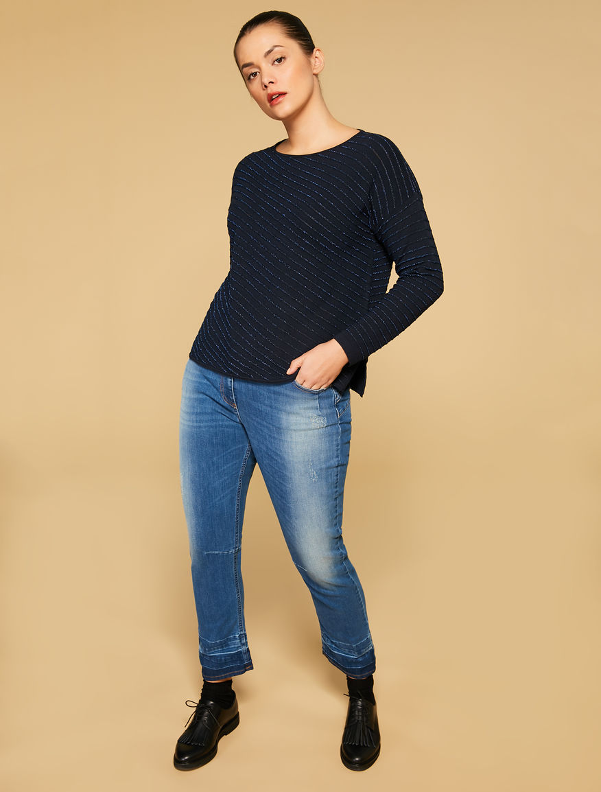 Shaping-fit stretch denim jeans