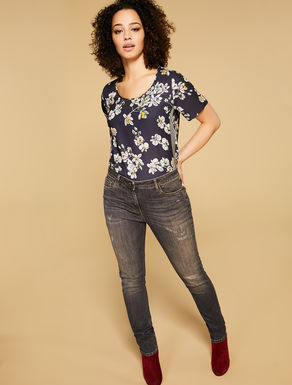 Pantaloni Shaping fit in denim stretch