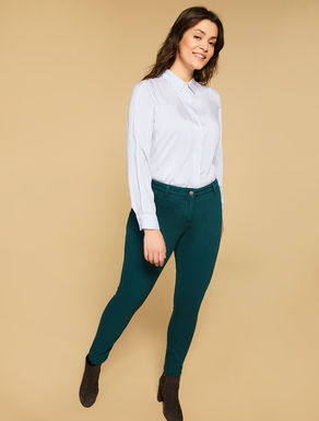 Jersey denim jeggings