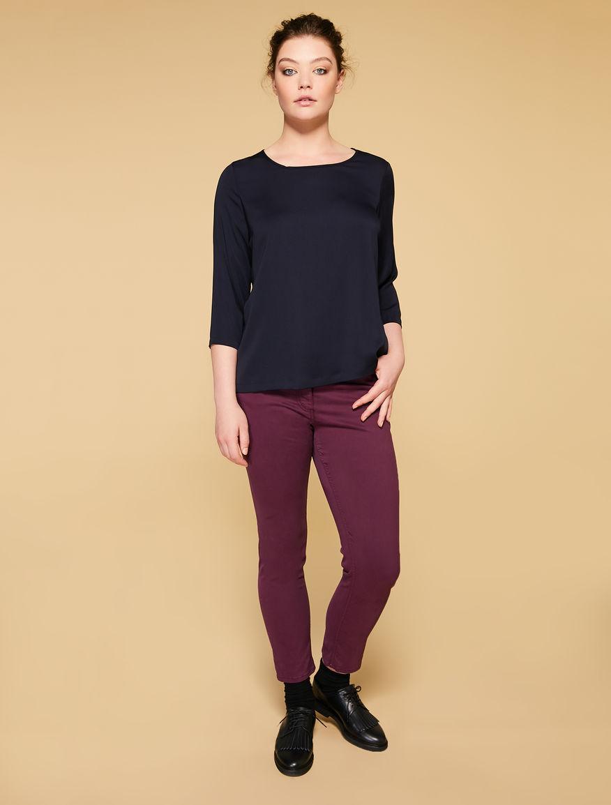 Pantaloni Perfect fit in raso stretch