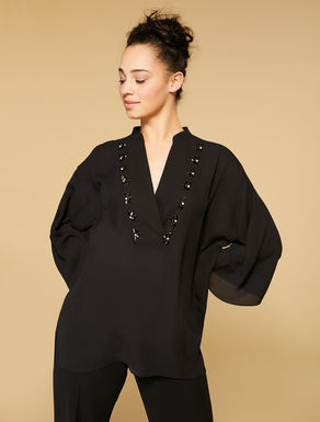 Fluid fabric tunic