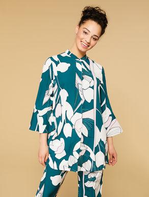 Camicia lunga in marocain