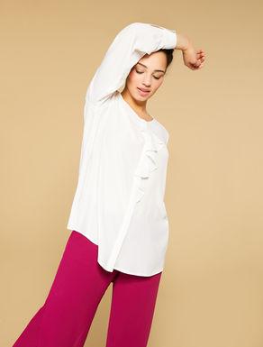 Silk-blend crepe shirt