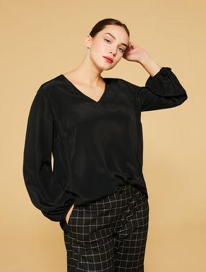 Silk-blend tunic