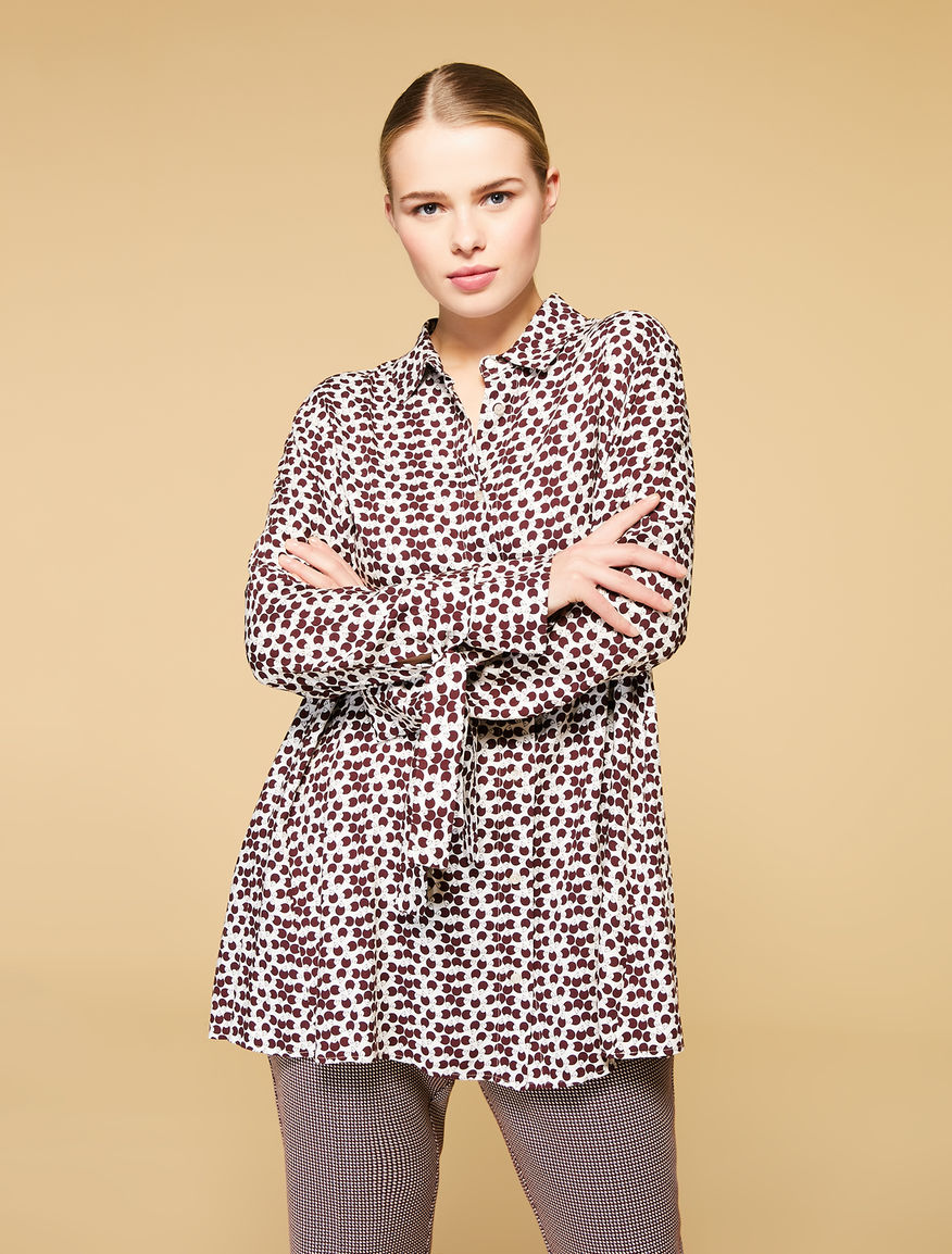 Printed viscose shirt
