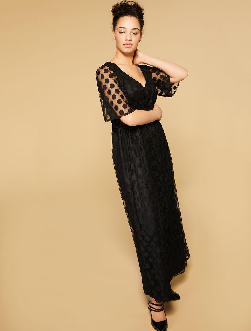 Jacquard tulle dress