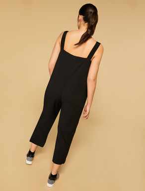 Stretch scuba crepe jumpsuit