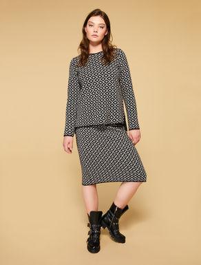 Jacquard longuette skirt