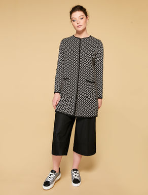 Reversible jacquard coat