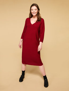 Vestido en mezcla de lana