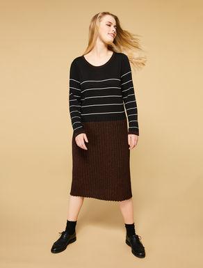 Vestido en mezcla de lana y viscosa