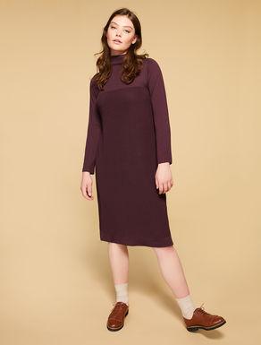 Vestido en mezcla de lana soft