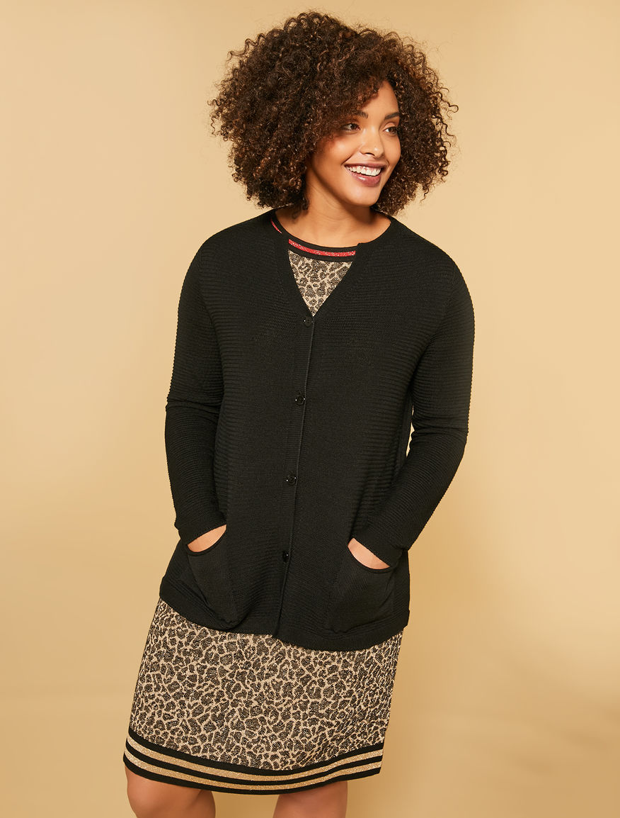 Mixed wool cardigan