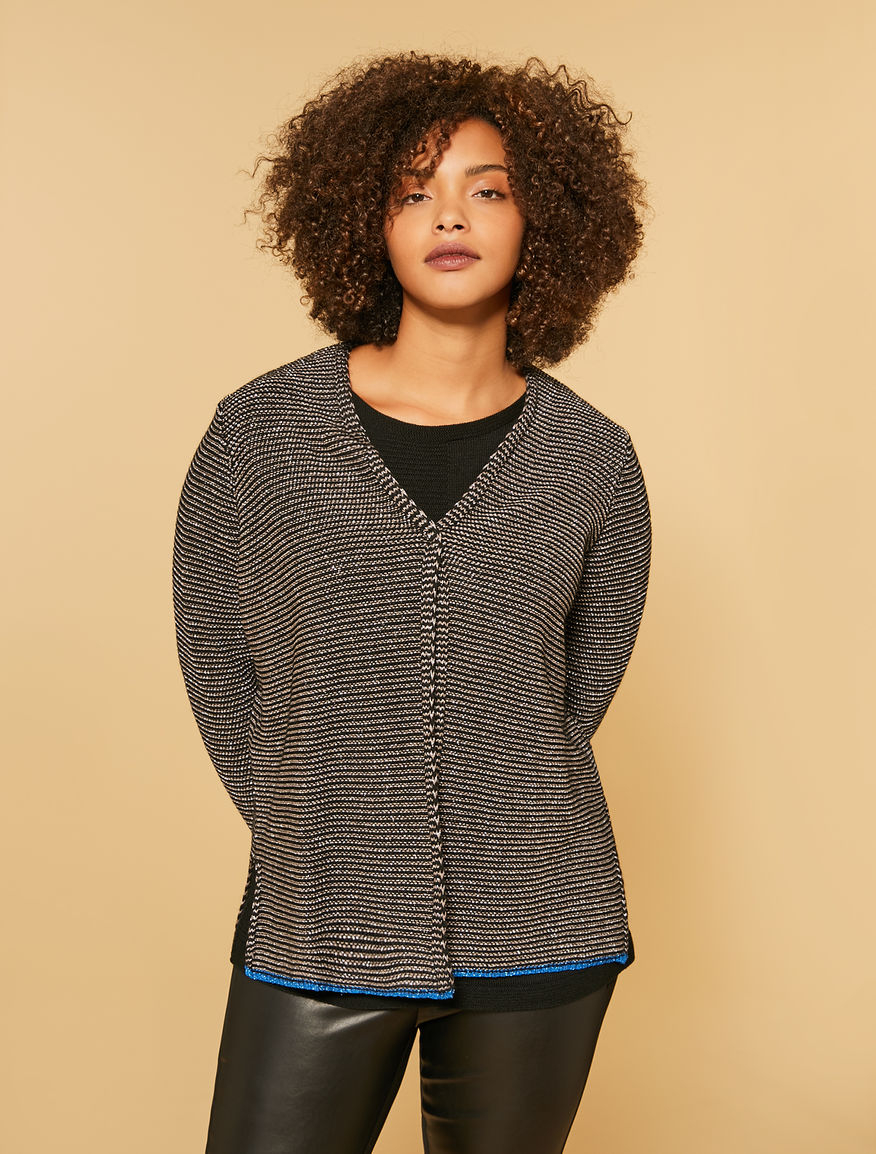 Cotton cordonet cardigan