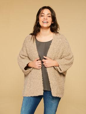 Maxi cardigan in misto lana