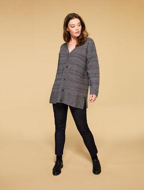 Cardigan in misto lana soft