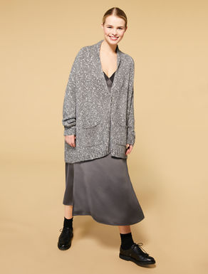 Cardigan aus Mohair-Mouliné-Mix