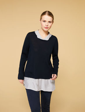 Viscose and wool-blend jumper