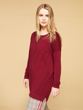 Viscose and wool jumper