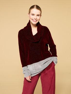 Pullover aus Viskose-Lurex-Chenille