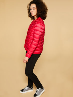 Satin nylon padded coat