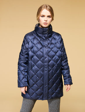 Mother of pearl nylon quilted jacket
