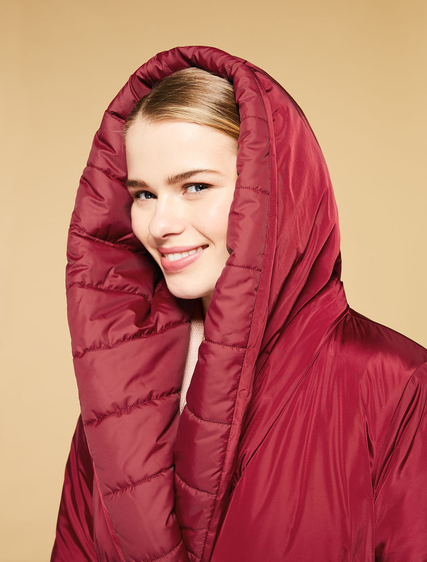 Reversible taffeta down coat