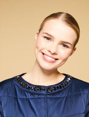 Piumino corto in raso couture