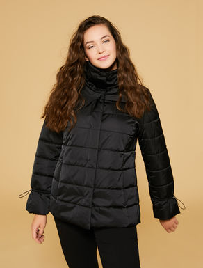 Couture satin quilted jacket
