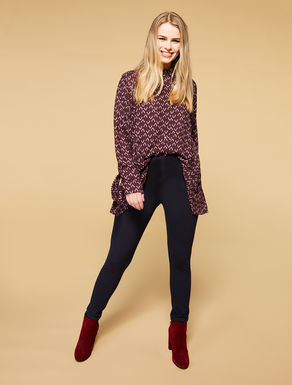 Milano-stitch legging trousers