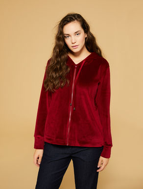 Silk-effect chenille sweatshirt