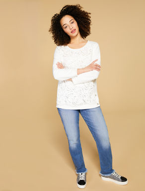Sweat-shirt en scuba crêpe stretch