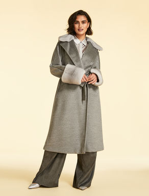 Alpaca broadcloth coat