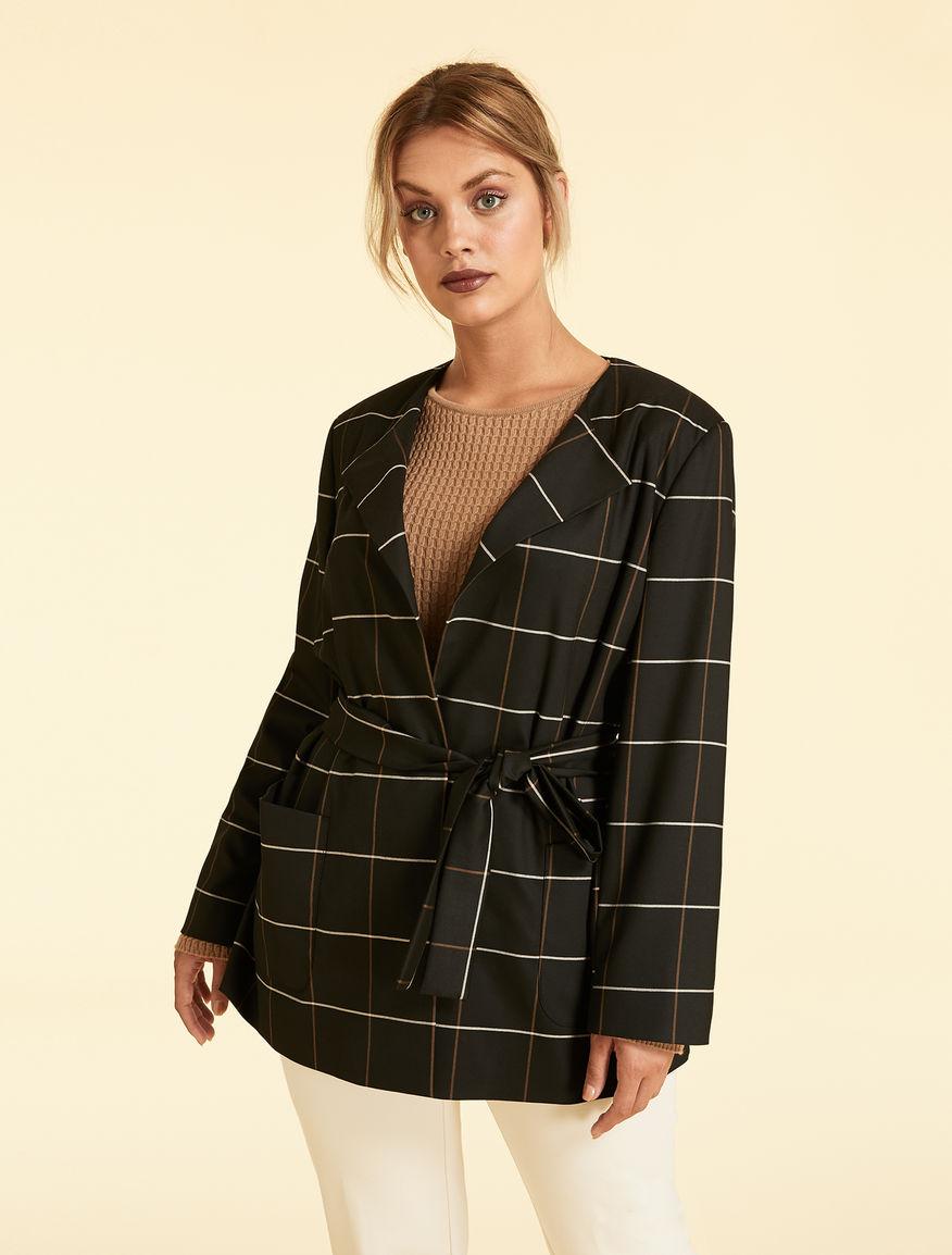 Wool-blend jacquard jacket