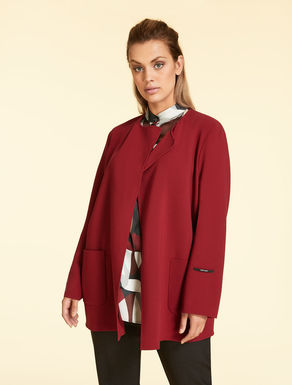 Wool crepe double cloth jacket