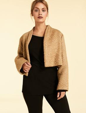 Astrakhan-effect mohair jacket