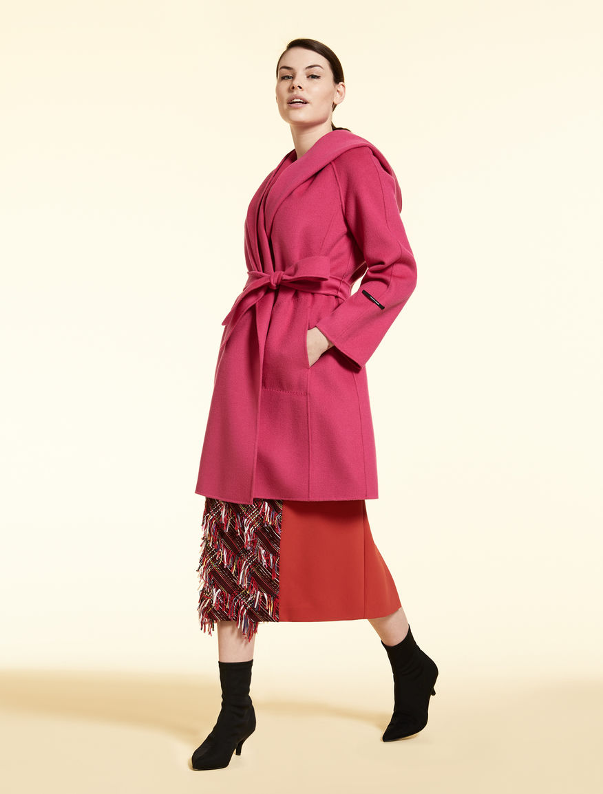 Double-layer wool coat