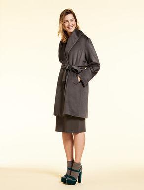 Alpaca drap coat