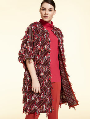 Multicolour basketweave coat