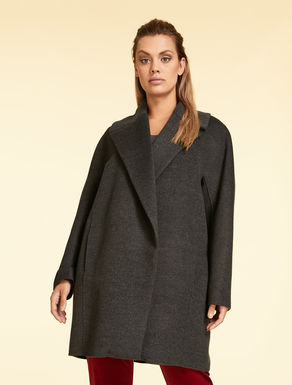 Wool double-cloth coat