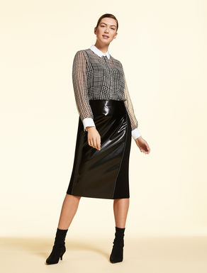 Triacetate pencil skirt