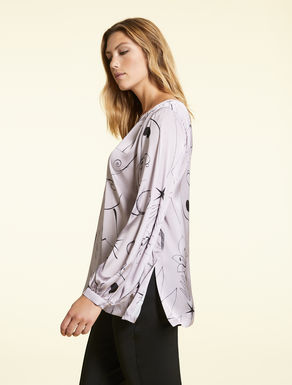 Printed satin tunic