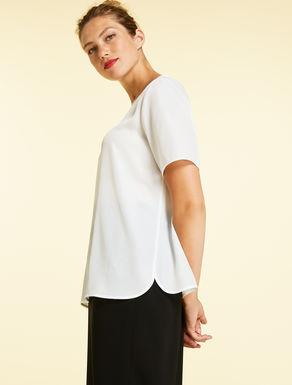 T-shirt in crêpe de Chine